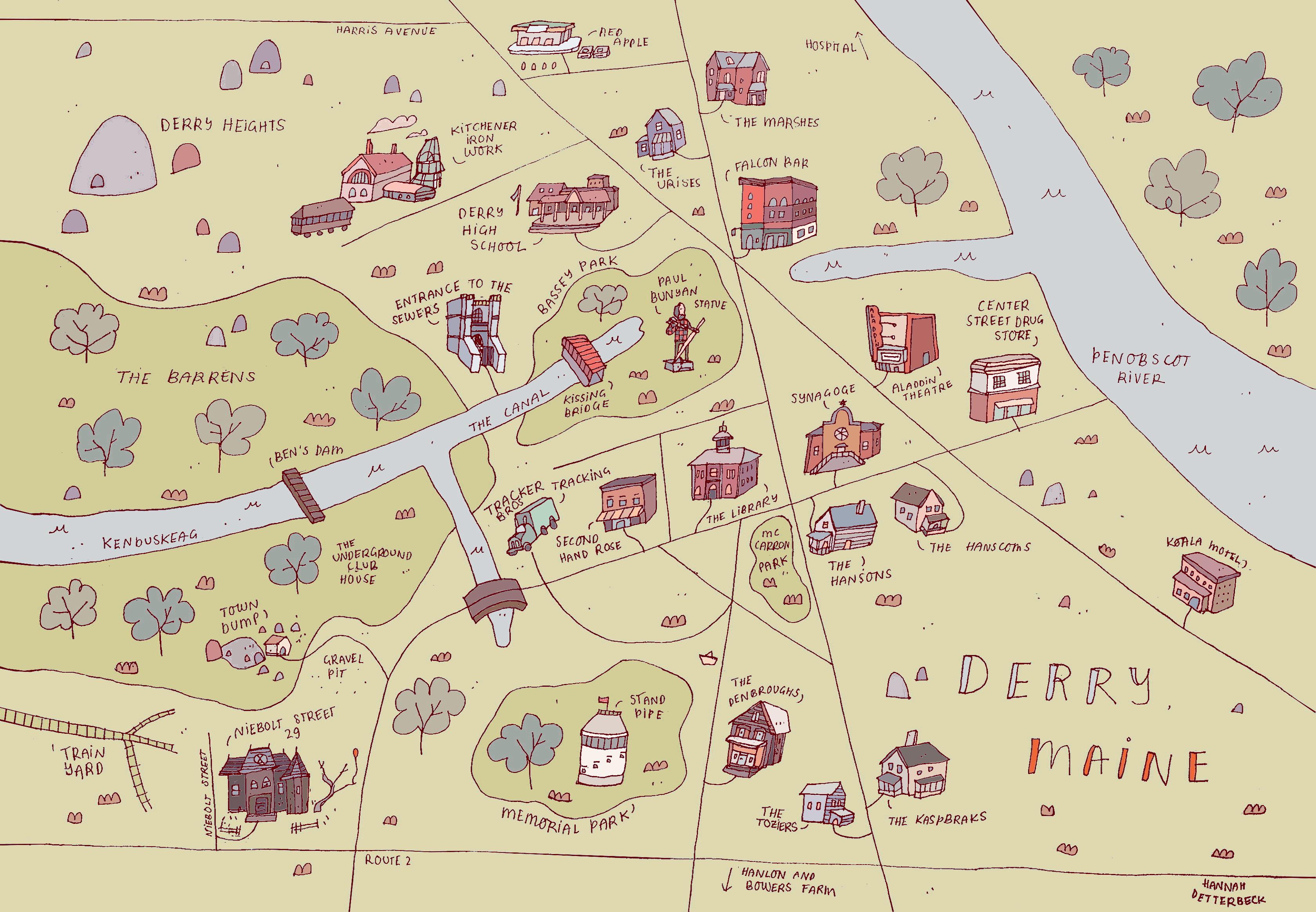 New maps: Narnia & Derry – Hannah Detterbeck